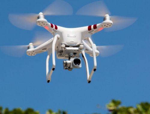 Drone in vigneto