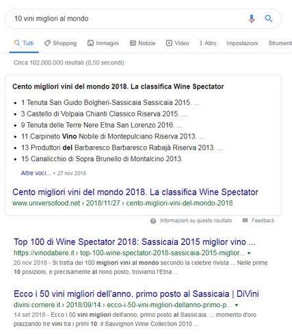 vino in google
